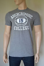 NEW Abercrombie & Fitch Newcomb Lake Basketball Ball #15 Grey Tee T-Shirt XL