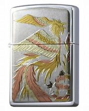 "Zippo 200.YS & Electroforming plate Traditional Japanese Pattern ""Phoenix Bird"""