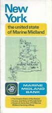 1975 MARINE MIDLAND BANK Road Map NEW YORK Albany Syracuse General Drafting ATM