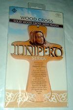 SAINT ST JUNIPERO SERRA 7 in Wood Cross NEW Religious Catholic California Friar