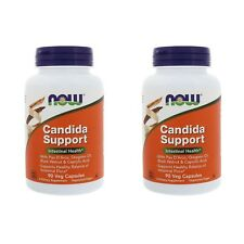 2X NOW FOODS CANDIDA CARE HEALTHY HERBAL SUPPORT DAILY BODY DIETARY SUPPLEMENT