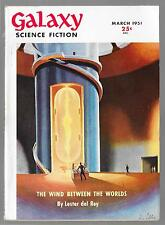 GALAXY SCIENCE FICTION MARCH 1951 ISAAC ASIMOV SERIAL PART 3 OF TYRANN