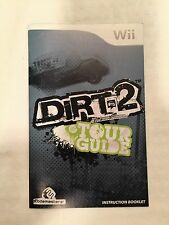 WII Dirt 2 Tour Guide Instruction Booklet Insert Only Nintendo