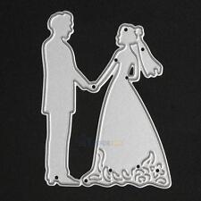 Bride Groom Wedding Cutting Dies Stencil DIY Scrapbooking Album Paper Card Craft