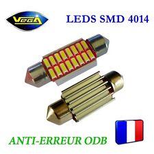 1 Ampoule navette C5W C10W 36 mm 16 leds 4014 SMD blanc xénon antierreur ODB 12V