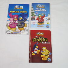 Lot Of 3 Disney Club Penguin Books The Great Puffle Switch Heroes Unite