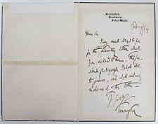 Hallam Tennyson Son Alfred Lord Tennyson Governer Australia SIGNED LETTER 1894