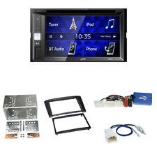 JVC KW-V250BT Autoradio + Toyota Avensis (T25) 2-DIN Blende schwarz +LFB-Adapter