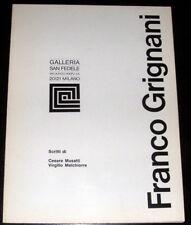 Franco Grignani Galleria san Fedele Milano 1969