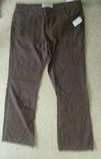 *** NOUVEAU *** AEROPOSTALE marron/taupe coton pantalon taille 13-14 (US) 16 (UK)