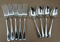 Vintage J. Lodge Ltd Sheffield EPNS 'A'  5 Forks/4 Dessert Spoons -Good Quality