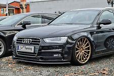ABS Frontspoilerlippe Spoilerschwert für Audi A4 B8 Facelift S-Line  mit ABE