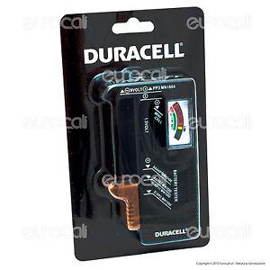 Tester Pile Duracell Misuratore Universale per Batterie Alcaline e Ricaricabili