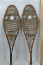 snowshoes child 28 in handmade beaver Wright Ditson native made antique rare