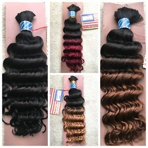 100% HUMAN HAIR by AMERICAN PRIDE - 14, 16, 18 and 22 inches Deep Curly BULK