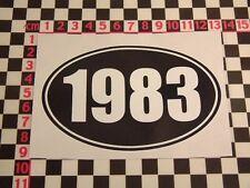 1983 Year Sticker - Chevette Maestro SD1 Rover Marina Van Mini Mayfair Birthday