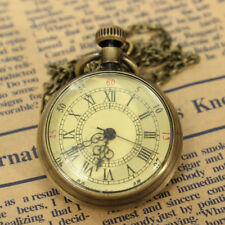 Roman Skeleton Mechanical Men's Pocket Chain Fob Watch Steampunk Vintage L7