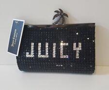 Juicy Couture Clutch Bag Black & Silver Jewelled Genuine Designer BNWT RRP £157