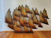 MCM STYLE WALL ART METAL WALL SCULPTURE DECOR BRUTALIST