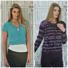 Knitting Pattern Donna Corto Cardigan & Maglione Galaxy DK King Cole 4110