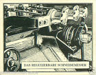 Germany Machine Individual cutter TOBACCO HISTORY HISTOIRE TABAC IMAGE CARD 30s