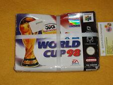 WORLD CUP 98 NINTENDO 64 N64 NUOVO PAL VERSIONE ITALIANA VEDI FOTO LOOK PHOTO