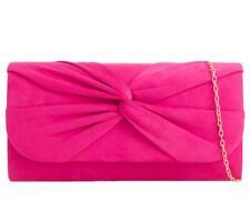 Pink Clutch Bag Ladies Cerise Velvet Evening Bag Fuchsia Hot Pink Shoulder Bag