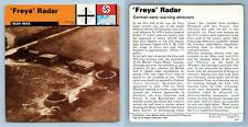 'Freya' Radar - 1939-43 - Secret War - WW2 Edito-Service SA 1977 Card