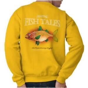 Gill McFinns Fish Cartoon Funny Fishing Gift Womens or Mens Crewneck Sweatshirt