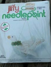 "New Vtg Jiffy Needlepoint Dove 3-D Christmas Ornament Craft Kit #5047 3"" High"