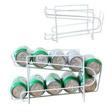 Beer Storage Organizer Metal Beverage Holder Kitchen Soda Can Refrigerator Rack
