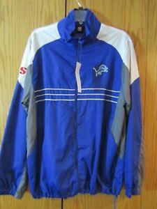 Detroit Lions NFL Vintage Reebok Men's Windbreaker Jacket Size L NWT SI