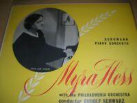 "Schumann Piano Concerto Myra Hess Philharmonia Orchestra 10"" Vinyl HMV BLP.1039"
