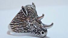 E960 Vintage G&S Biker Rhino Ring Big And Bulky Men's Size: 10