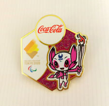 Brand new Tokyo 2020 olympic Paralympics  pin Coca Cola mascot Torch relay