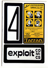 EXPLOIT COMICS n 4 - 1977  DA EDICOLA - FANZINE FUMETTI - TARZAN - COLLEZIONISMO