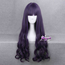 80 CM Purple Long Hair Anime for CARDCAPTOR SAKURA Tomoyo Daidou Cosplay Wig