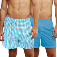 2pc Premium Cotton Blend Gildan Boxers Mens Woven Cotton Shorts Sleep Lounge
