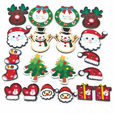 20 Mix Christmas Plastic Xmas Flatbacks Craft Cardmaking Embellishment