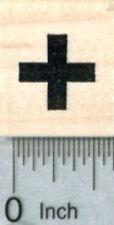 Tiny Cross Rubber Stamp, Medical Symbol, 1/2 inch, Calendar Series A31119 WM