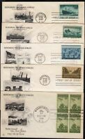 1945 Armed Services FDCs Sc 929-939 set of 5 Art Craft cachets