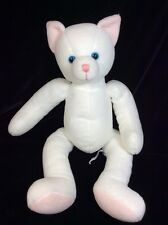 """Russ For Target White Plush Cat Kitty 14"""" Blue Eyes Stuffed Soft Toy"""