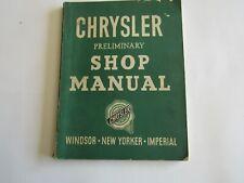 Mopar Chrysler Windsor New Yorker Imperial Service Repair Shop Manual