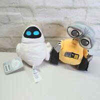 Disney Store Set Wall-e & Evie Mini Bean Bag plush Toys