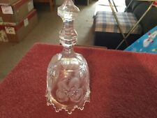 24% Lead Crystal Clear w/Etched Strawberries on it Bell Australia