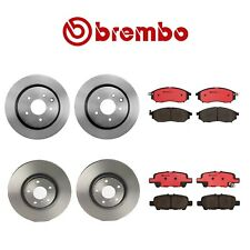 Front & Rear Vented Disc Brake Rotors and Pads Kit Brembo for Infiniti EX35 G37