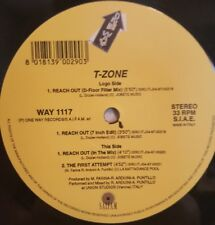 """T-Zone - Reach Out 12"""" 33RPM Vinyl Record WAY 1117 One Way Records"""