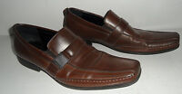 EX Condition Kenneth Cole Reaction Money Down Brown Men's Loafers Sz 11 M