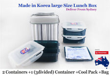 Lock & Lock Luch Box 3pc Set with Cool Pack Insulated Bag- Deliver from Sydney