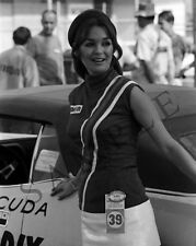 "1969 Union 76 Race Stopper Pinup Girl Model Nascar 8""x 10"" Photo Poster"